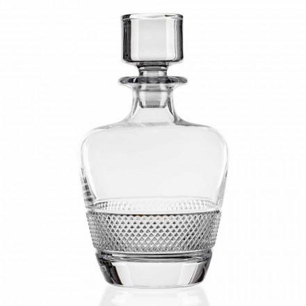 2 whiskyflaskor dekorerade i ekologisk kristall tillverkad i Italien - Milito
