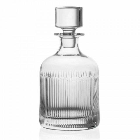 2 whiskyflaskor med miljövänlig Crystal Cap Vintage Design - Taktil