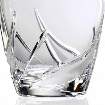 2 Crystal Whisky-flaskor med lyxigt dekorerad mössa - Advent