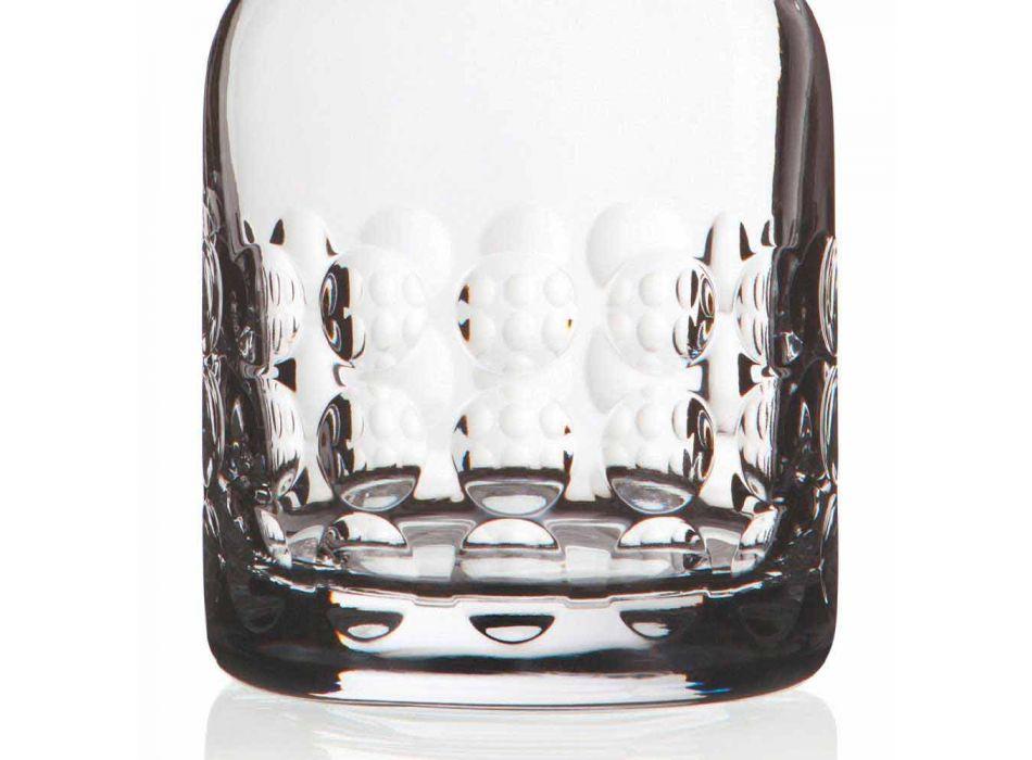 2 flaskor för whisky i ekologisk kristall dekorerad med lock - titanioball