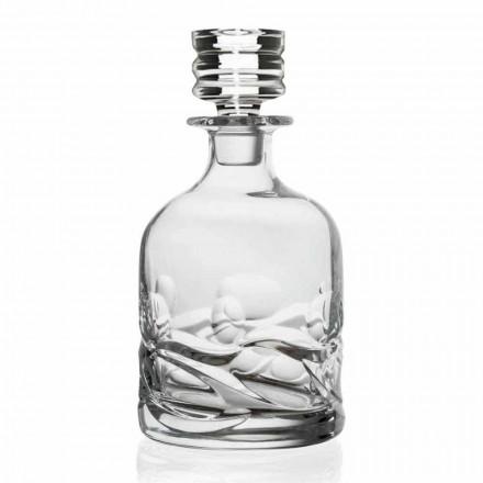 2 ekokristalldekorationer med whisky med lyxig designlock - titan
