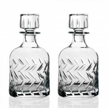 2 miljövänliga Crystal Whisky-flaskor med vintage dekorativ keps - arytmi
