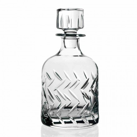 2 ekologiska flaskor med kristallwhisky med lock, vintagedekorationer - arytmi