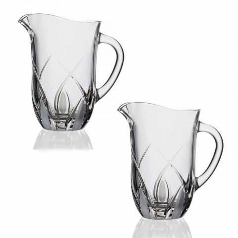 2 ekologiska kristallkanna i lyxig handdesignad design - Montecristo