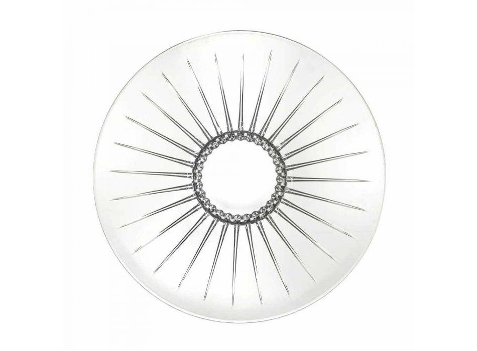 2 Ultraclear Superior Sound Glass Centerpiece Luxury and Design - Senzatempo