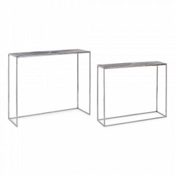 2 Konsol i stål och pläterad aluminium Modern design Homemotion - Narnia