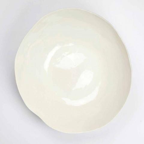 2 salladsskålar i vitt porslin Unika bitar av italiensk design - Arciconcreto