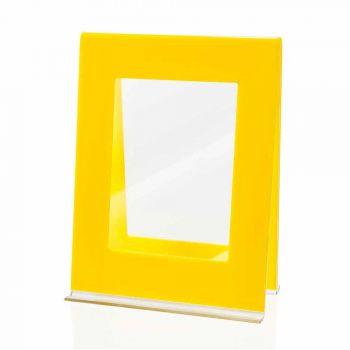 2 fotoram med flera bord i färgad plexiglas italiensk design - Tarino