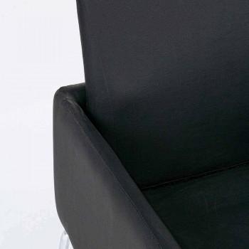 2 stolar med armstöd täckta i konstläder Modern design Homemotion - Farra