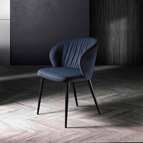 2 vardagsrumsstolar i tyg och ask i elegant design - Reginaldo