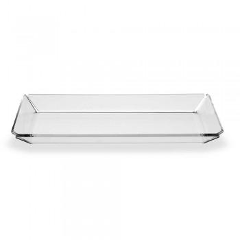 2 Plexiglasbricka med modern design i transparent plexiglas - Tonio