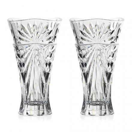 2 bordsvaser i unik design ekologisk kristall - Daniele