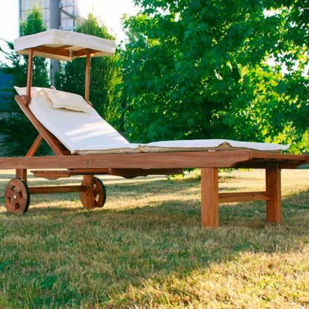 Justerbar Crib teak trädgård