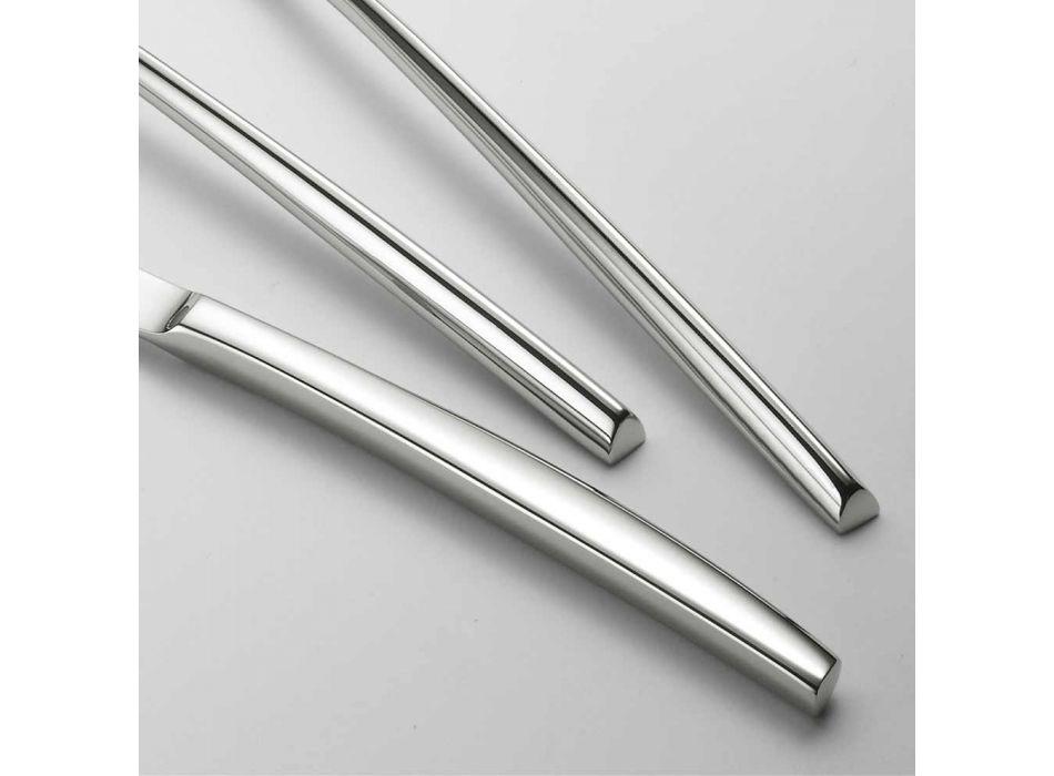 24 Bestick av polerat stål Triangulär design Elegant modern design - Caplin