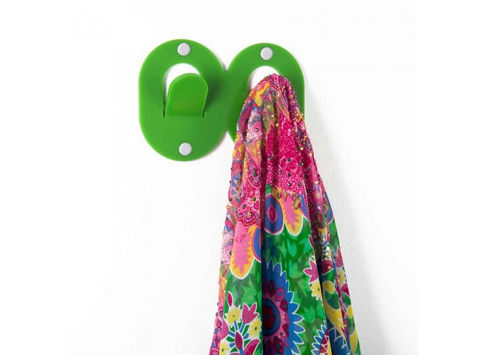 3 vägghängare i färgad plexiglas dubbel italiensk design med klämma - Freddie