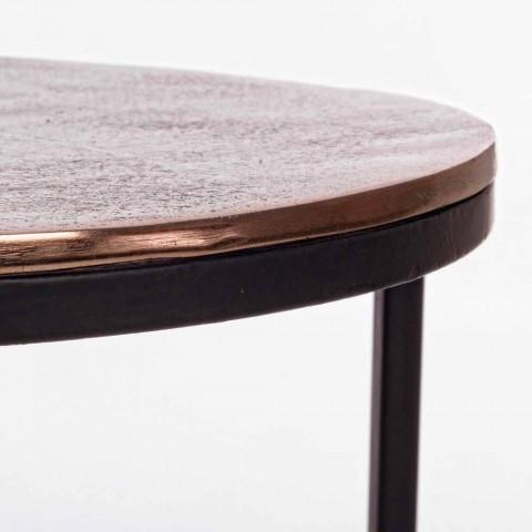 3 runda kaffebord i aluminium och stål Homemotion - Sempronio