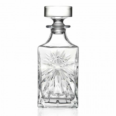 4 Whiskyflaskor med Eco Crystal Cap Square Design - Daniele