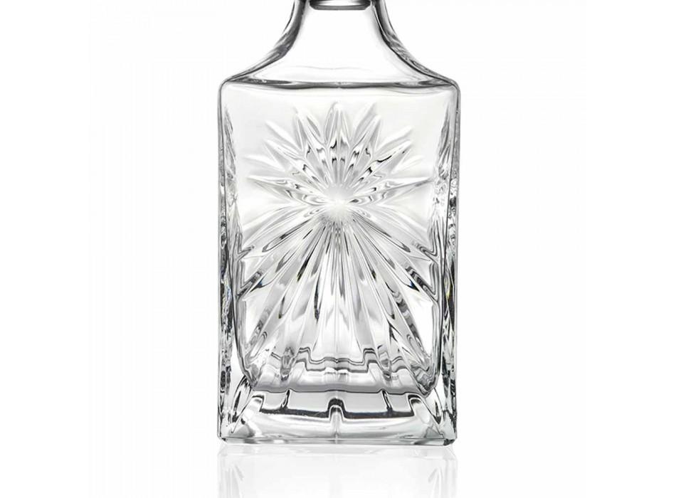 4 Whiskyflaskor med Eco Crystal Cap Square Design - Daniele