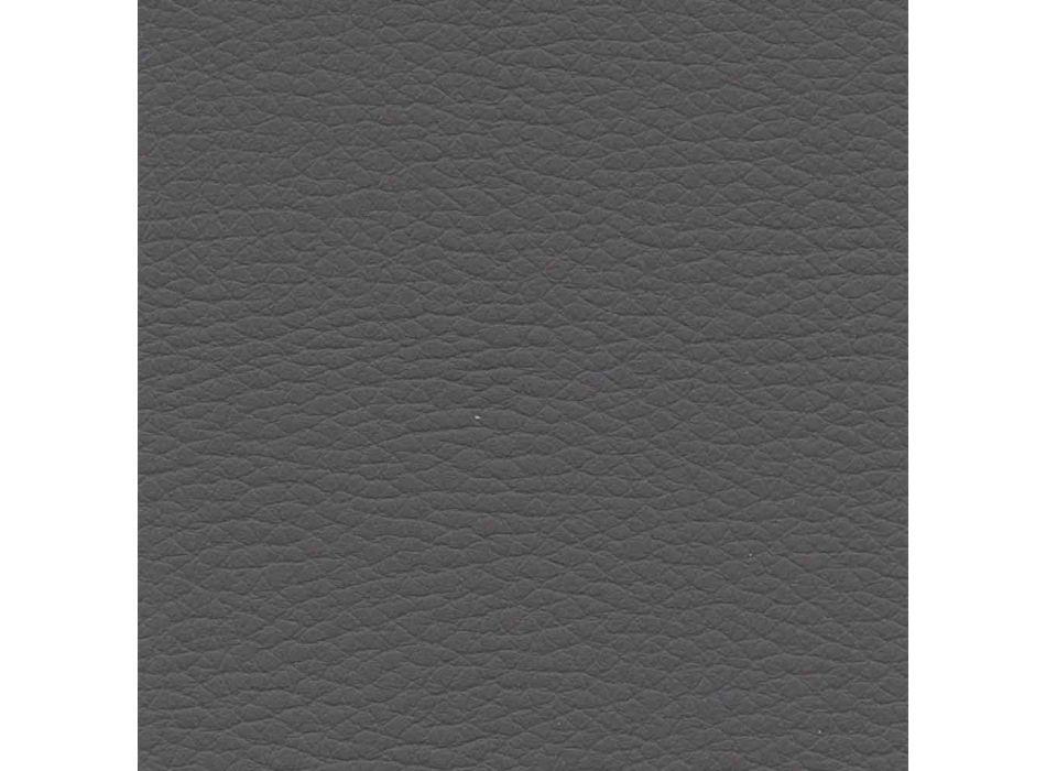 4 Köks- eller vardagsrumsstolar i färgad ekoläder- och metalldesign - Hermione