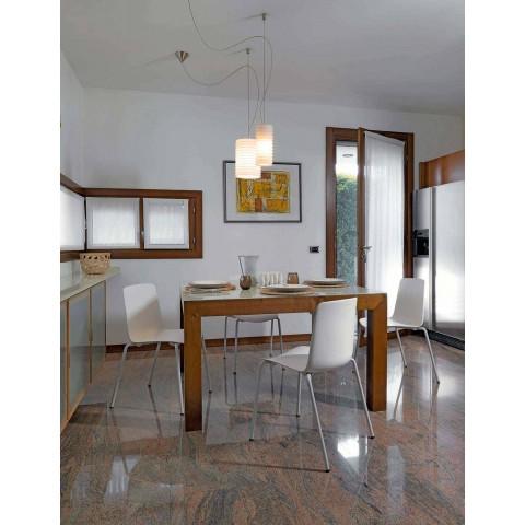 4 stapelbara utomhusstolar i metall och polypropen tillverkad i Italien - Carita