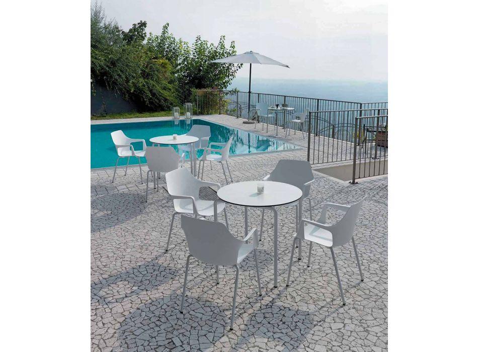 4 stapelbara utomhusstolar i polypropen och metall tillverkad i Italien - Carlene