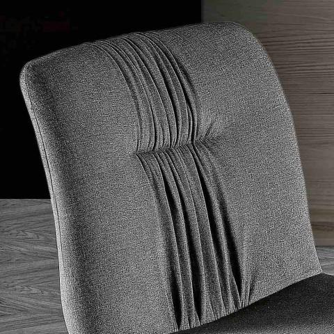 4 vardagsrumsstolar klädda i tyg- och askbendesign - Florinda