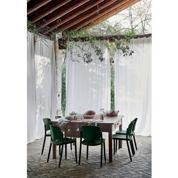 4 moderna stapelbara utomhusstolar i polypropen tillverkad i Italien - Bernetta