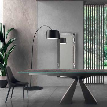 4 moderna stålstolar med stoppad sammetstol tillverkad i Italien - Nirvana
