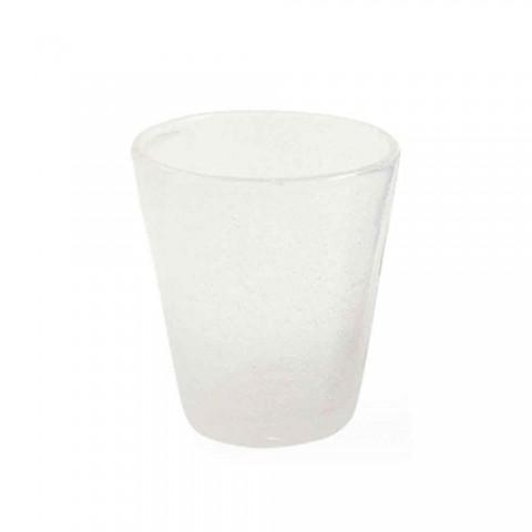 6 Glass Water Craft Service av färgat blåst glas - Yucatan
