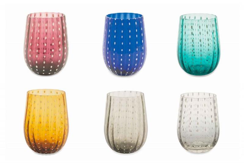 6 färgade och moderna glasögon för elegant vatten - Persien