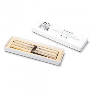 6 bordsknivar 2012 Berti rostfritt stål exklusivt för Viadurini - Annico