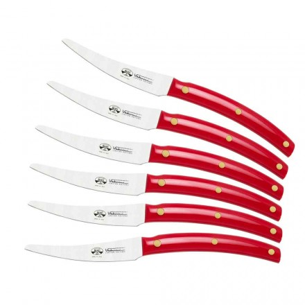 6 bordsknivar tillverkade i Italien, Berti exklusivt för Viadurini - Alserio