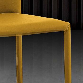 6 stapelbara stolar i färgat miljöläder modern design för vardagsrum - Merida