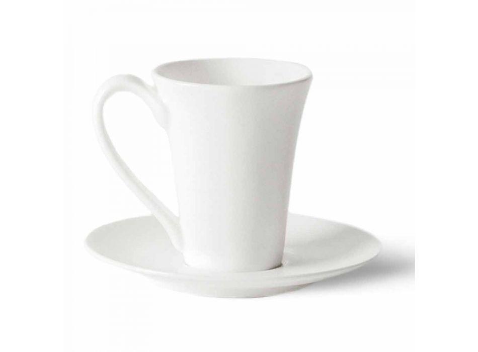 6 porslinkaffe koppar med kaffekanna och sockerskål - Romilda