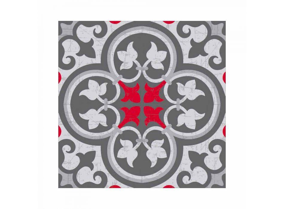 6 amerikanska mönstrade placemats i PVC och tvättbar polyester - Lindia