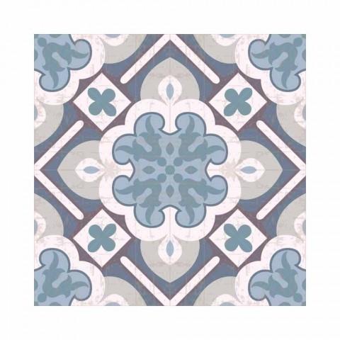 6 eleganta amerikanska placemats i tvättbar PVC och polyester - Petunia