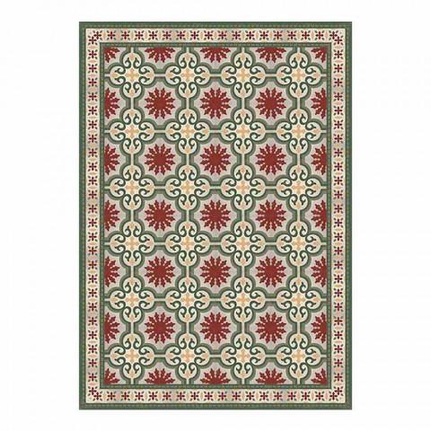 6 mönstrade tvättbara amerikanska placemats i PVC och polyester - Coria