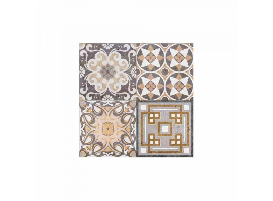 6 rektangulära amerikanska designplacemats i PVC och polyester - Dimetra