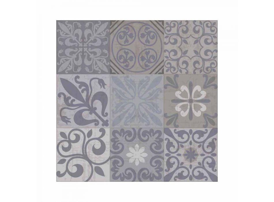 6 eleganta placemats i Pvc och polyester med svart eller grått mönster - Pita