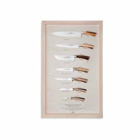 7 Berti väggknivar i rostfritt stål exklusivt för Viadurini - Modigliani