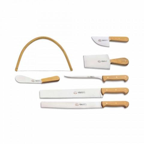 7 Berti italienska rostfria knivar exklusivt för Viadurini - Alessano