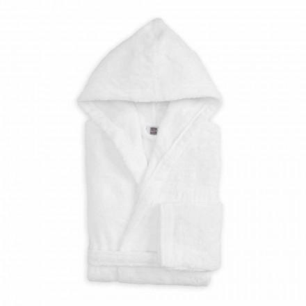 Lyxig färgad badrock med huva i frotté bomull - Vuitton
