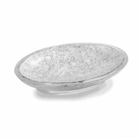 Badrumstillbehör i hartsbelagd i silverblad - argentinskt