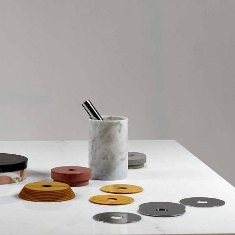 Aperitif-tillbehör Cocktailinstrument i marmor, trä och stål - Norman