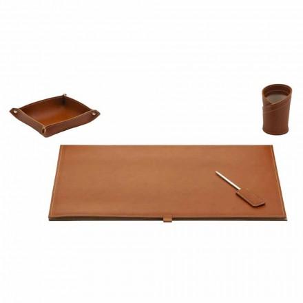 Tillbehör för Designer Desk i limt läder, 4 delar - Aristoteles