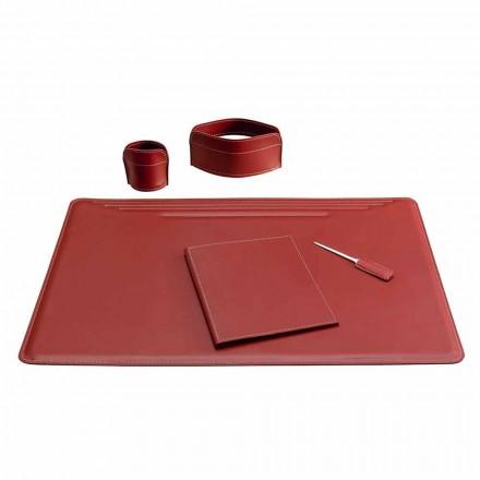 5-bitars läderbordstillbehör tillverkade i Italien - Ebe