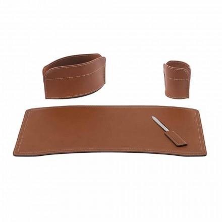Tillbehör Kontorsskrivbord i regenererat läder Tillverkat i Italien - Brando