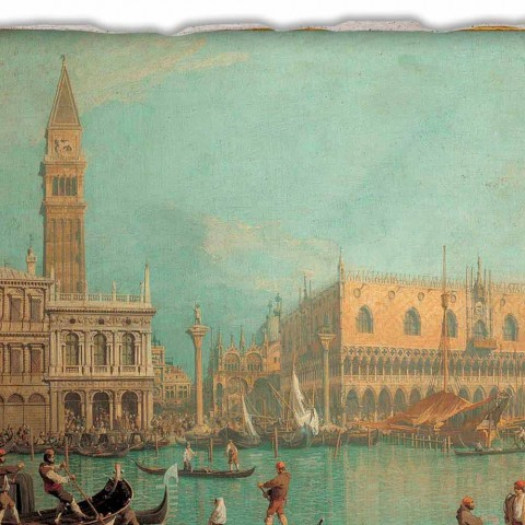 """Fresco Canaletto """"Vy över Palazzo Ducale i Venedig"""""""