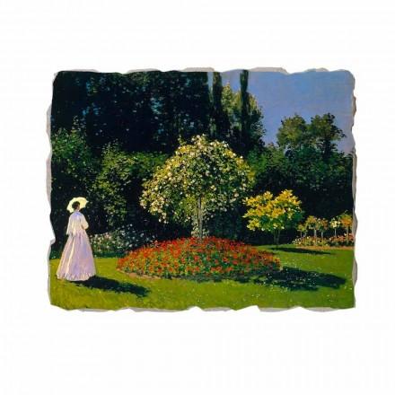 "Fresco Claude Monet ""Lady i trädgården på Sainte-Adresse"""