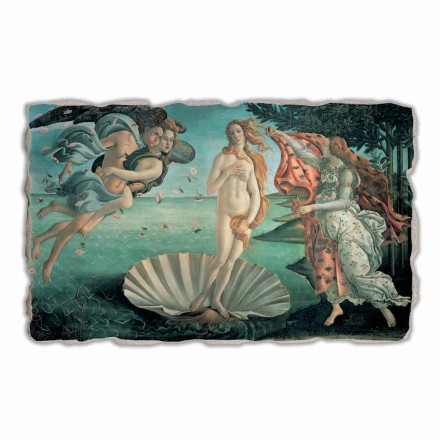 "Fresco gjort i Italien Botticelli ""Birth of Venus"""
